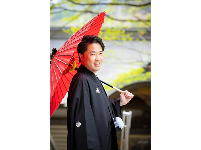 紋付 番傘